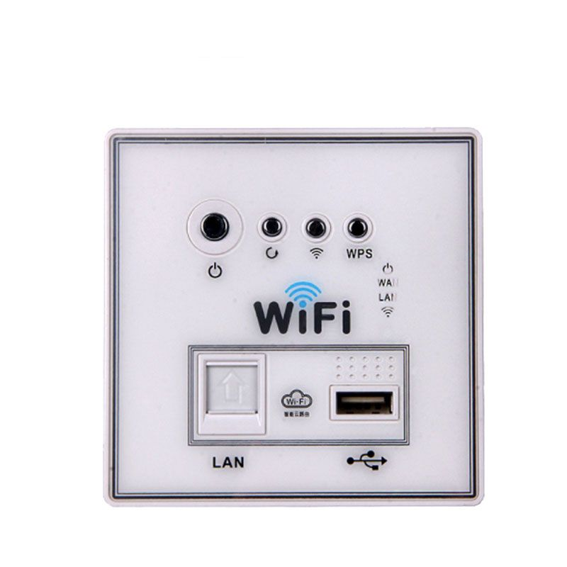 2.4Ghz 300Mbps 220V power AP Relay Smart Wireless Wall